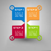 Four steps — Stock Vector