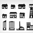 Building icons — Stock Vector #16922817