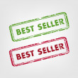 Best seller rubber stamps - Stock Vector