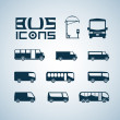 Bus icons — Stock Vector