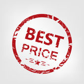 Best price stamp — Stock Vector