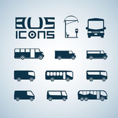 Bus icons — Stok Vektör