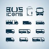 Otobüs simgeler — Stok Vektör