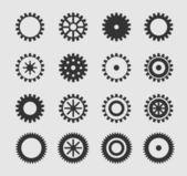 Vector black gearwheel — Stock Vector
