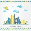 Modern city landscape — Stock Vector