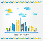 Modern city landscape — Stock Vector