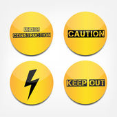 Caution signs — Stock Vector