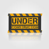 Vector sign under construction — Stock Vector