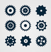Cogwheel set — Stock Vector
