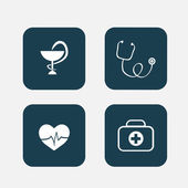 Pharmacy and medical icon — Vector de stock