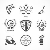 Golf sign and symbols — Stock Vector