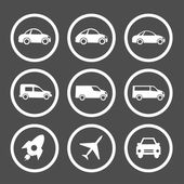 Flat car icons set — Stock Vector