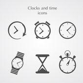Icônes d'horloges — Vecteur