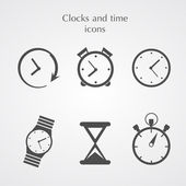 Iconos de relojes — Vector de stock