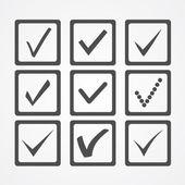 Iconos de marca de verificación — Vector de stock