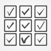 Markera ikoner — Stockvektor