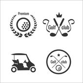Golf icons and labels — Stock Vector