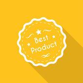 最佳产品标签 — 图库矢量图片