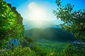 在山中风景 — 图库照片