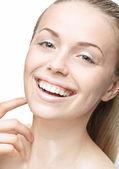 Teen girl beauty face happy smiling — Stockfoto