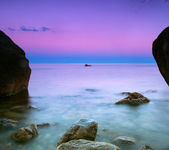 Seascape at dusk — Stock Photo