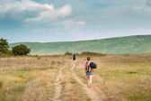 A group of traveling through Crimea — Stock fotografie