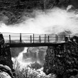 bridge over waterfall — Stock Photo