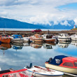 Harbour with boats — Stock Photo