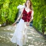 Young woman walking — Stock Photo #1372731