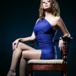 Young woman on a chair — Stock Photo #1372829