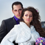 Young wedding couple — Stock Photo #14555893