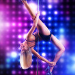 Young pole dance woman — Stock Photo #14555895