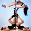 Pole dance women — Stock Photo