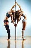 Mulheres de pole dance — Foto Stock