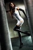 Ung sexig goth kvinna — Stockfoto