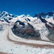 Mountains with glacier — Stock Photo