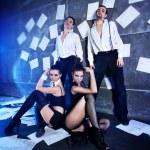 Dancer team — Stock Photo