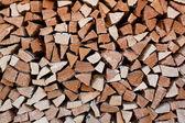 Firewood store — Stock Photo