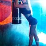 Boxer woman — Stock Photo