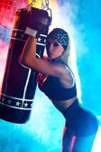 Femme Boxer — Photo