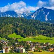 Alps town - Stock Photo