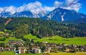 Alps town — Stock Photo