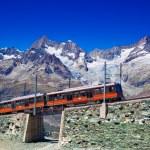 Train in Alps — Stock Photo