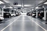 подземная парковка — Стоковое фото