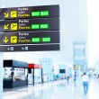 Airport boards — Stockfoto