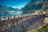 Dam on mountains top — Stock Photo