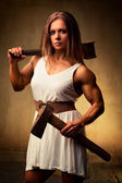 Young woman bodybuilder — Stock Photo