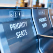 Stock Photo: Priority seats