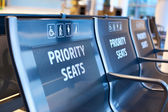 Priority seats — Stock Photo
