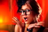 Young wondering woman — Stockfoto
